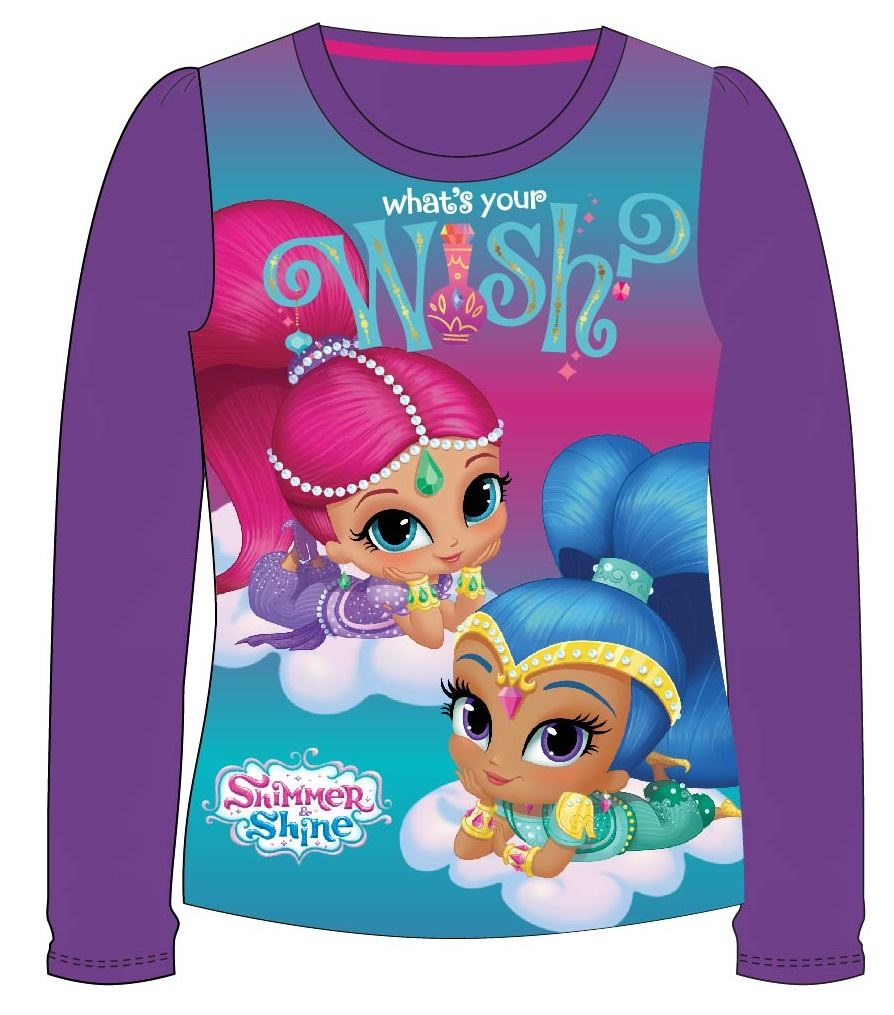 Tričko Shimmer and Shine - purple