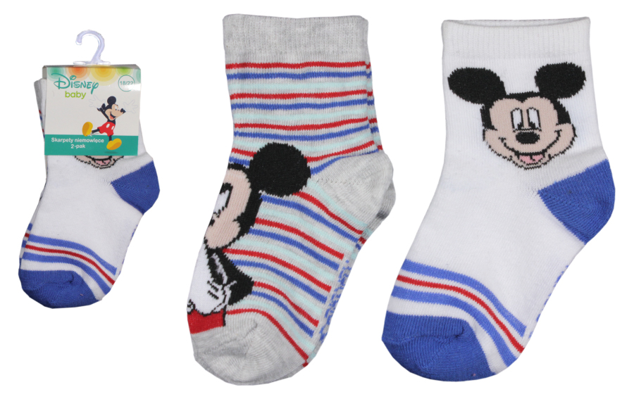 Ponožky Mickey Mouse Baby - 2-pack