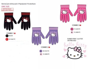 Prstové rukavice Hello Kitty - fialové